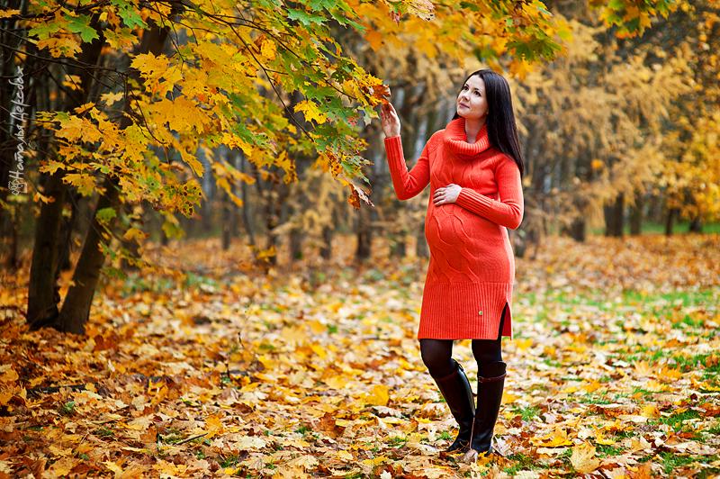 Беременная фотосессия на природе осенью идеи